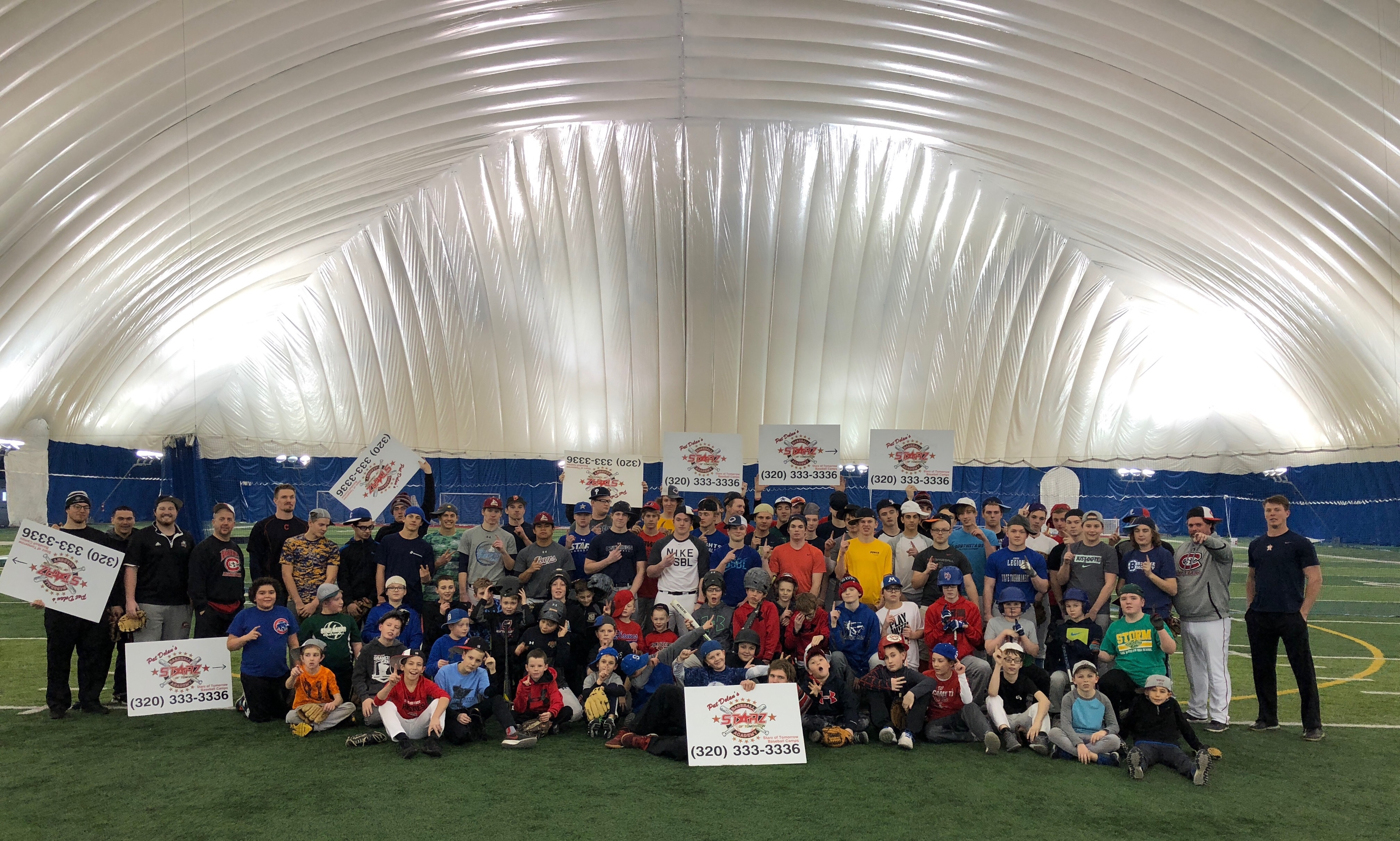 Almost 100 players at the Presidents' Day Camp!